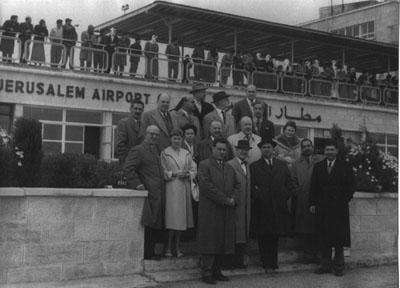 Anton Albina Sr. at Jerusalem Airport 1959